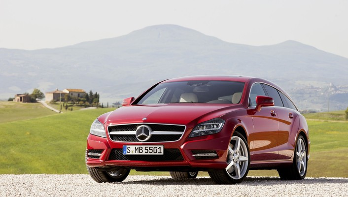 Cars shooting red mercedes-benz cls-class german cls wallpaper