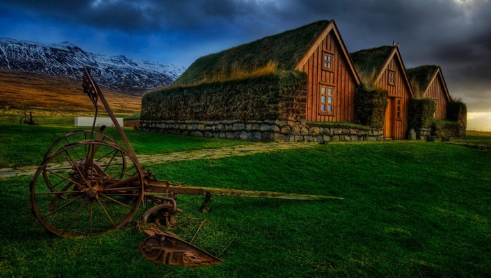 Countryside farm hdr wallpaper