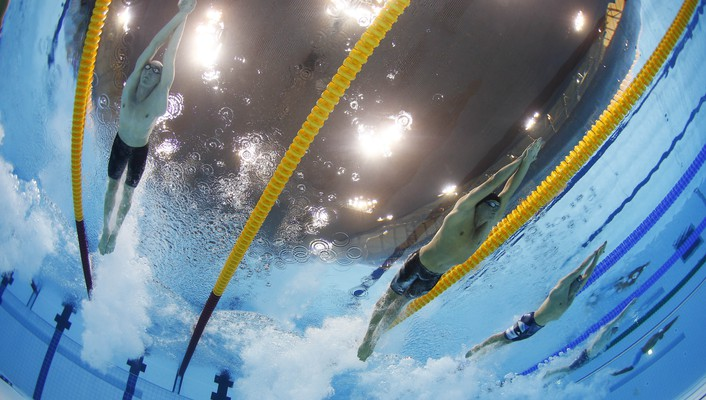 Sports swimming pools racing olympics 2012 wallpaper