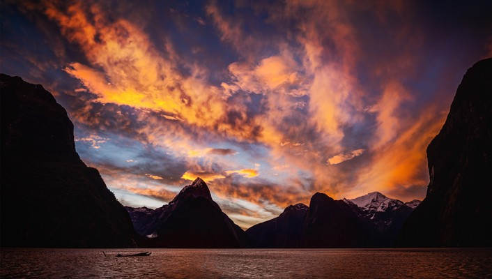 Sunset mountains landscapes nature wallpaper