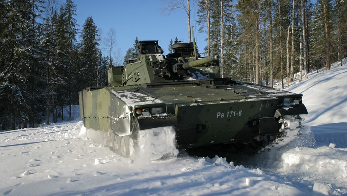 Tracks 2004 armoured personnel carrier cv90 forest wallpaper