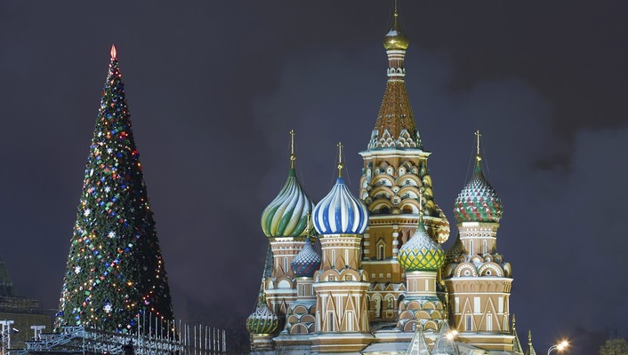 Christmas kremlin moscow russia cathedrals wallpaper