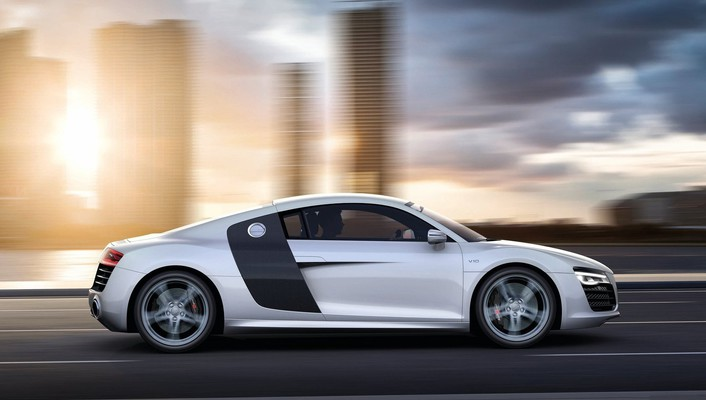 Cars audi roads r8 white v10 wallpaper