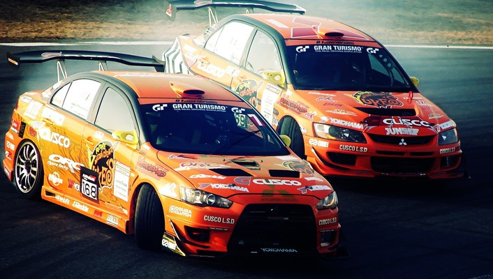 Mitsubishi lancer evolution cars drifting wallpaper