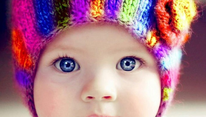Multicolor baby babies hats colors woolen wallpaper