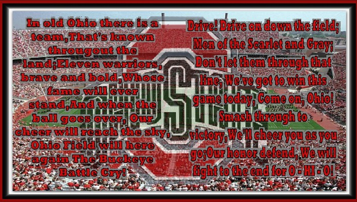 The buckeye battle cry wallpaper
