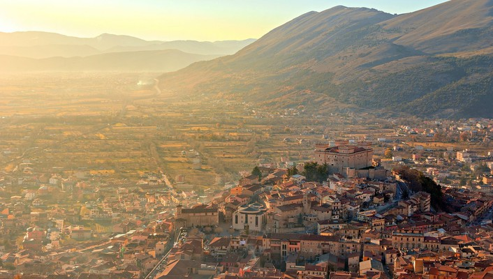 Mountains landscapes castles cityscapes aerial view wallpaper