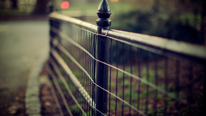 Fences urban wallpaper