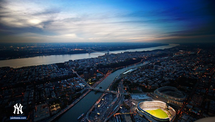 Baseball mlb new york yankees aerial wallpaper