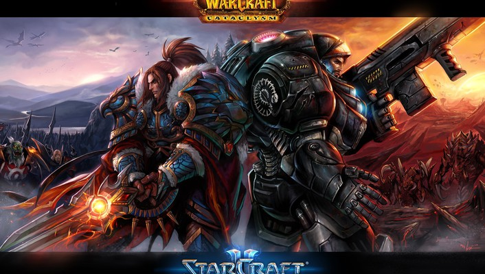 Starcraft world of warcraft video games wallpaper
