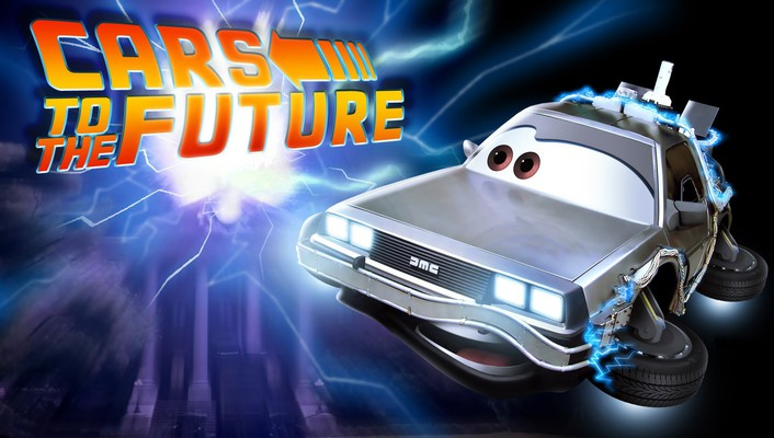 Cars future back to the widescreen wallpaper