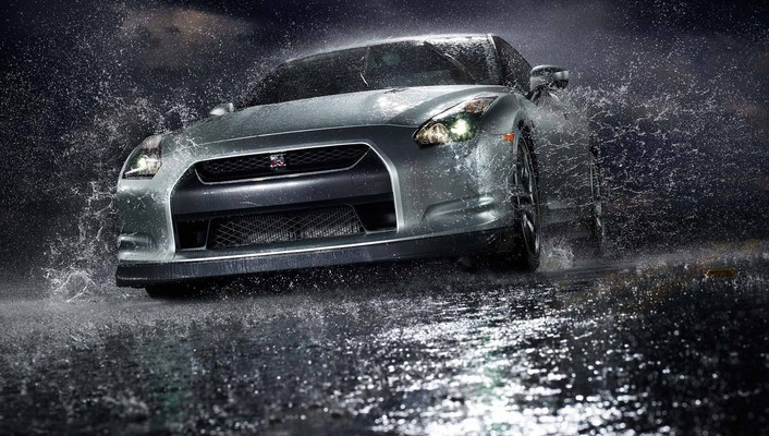 Cars rain wallpaper
