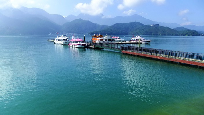 Water mountains landscapes dock ships pier boats lakes wallpaper