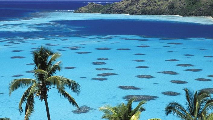 Gambier islands french polynesia south pacific wallpaper