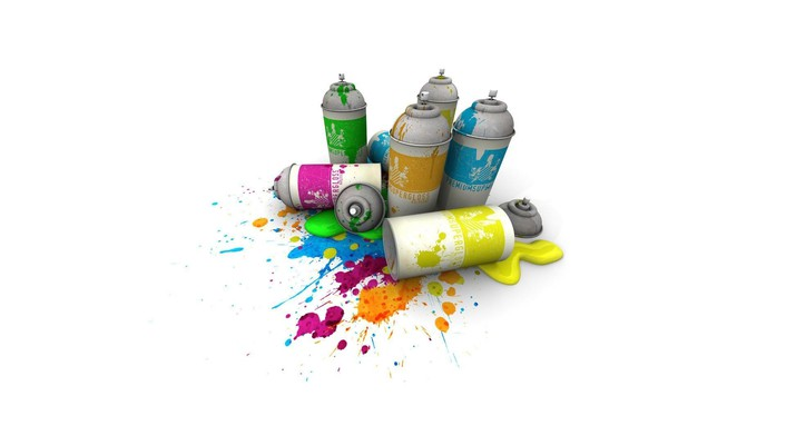 Grafiti spray paint wallpaper