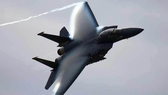 F15 eagle aircraft contrails fighters wallpaper