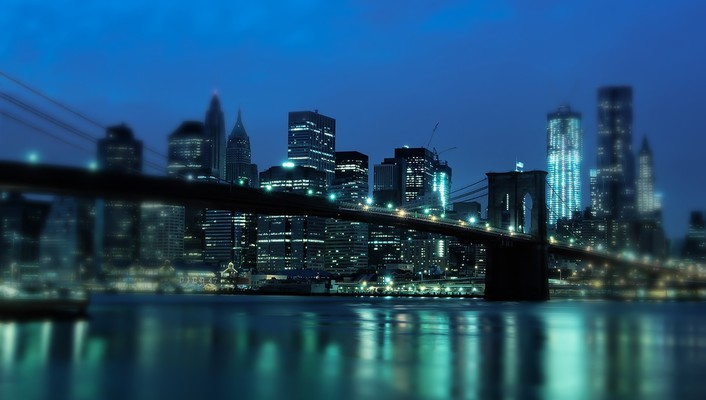 Cityscapes city lights manhattan bridge wallpaper