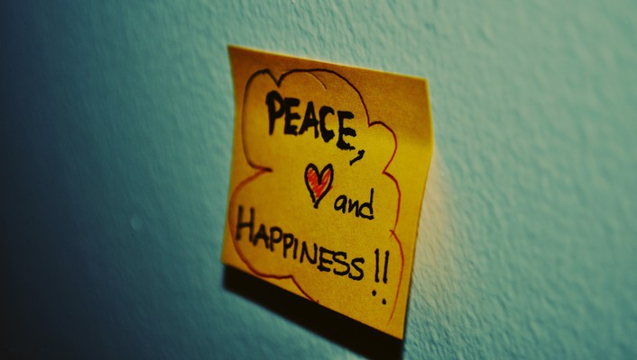 Notes paper peace text wallpaper