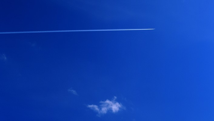 Aircraft clouds contrails skyscapes wallpaper