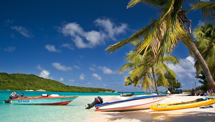 Boats oceans trinidad tobago and beaches wallpaper