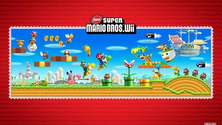 Nintendo wii super mario bros new bros wallpaper