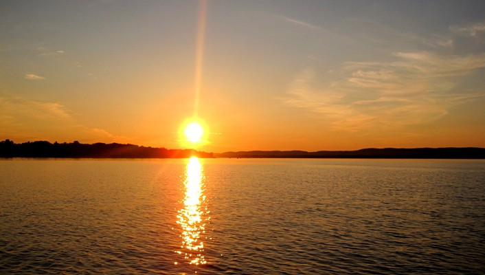 Water sunset landscapes nature peace wallpaper