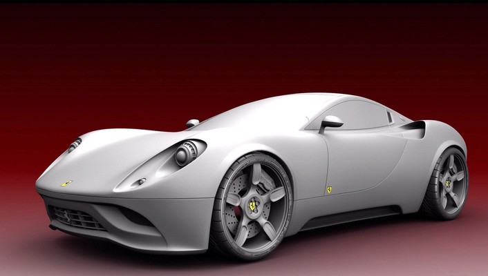 Ferrari concept cars vehicles white wallpaper