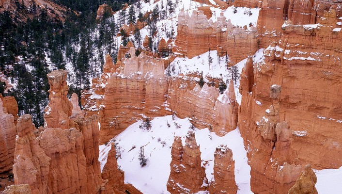 Landscapes nature bryce canyon utah national park snowy wallpaper