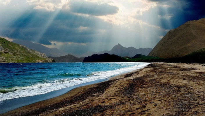 Landscapes nature beach wallpaper