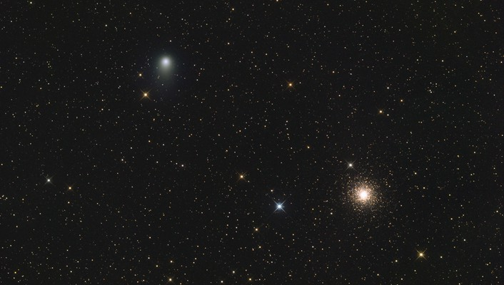 Outer space stars cluster wallpaper