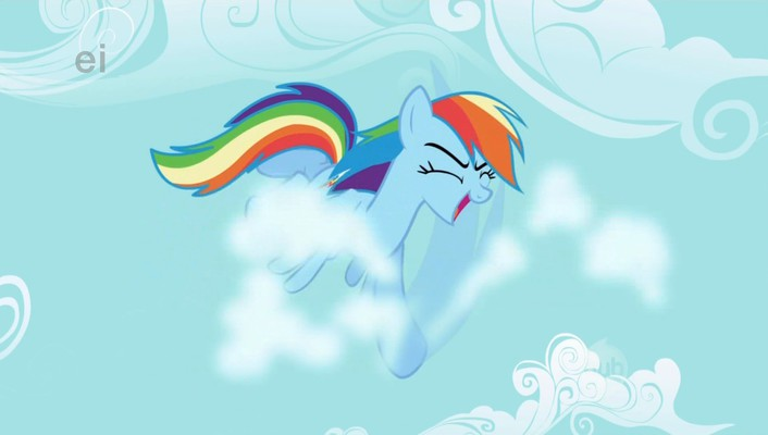 My little pony rainbow dash karate wallpaper