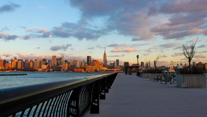 Nyc from jersey riverside wallpaper