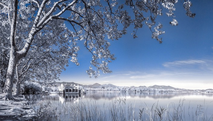 Landscapes nature snow lakes wallpaper