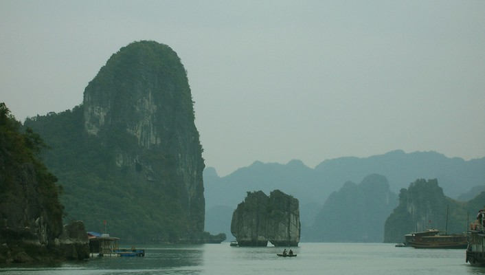 Landscapes nature viet nam bay ha long sea wallpaper