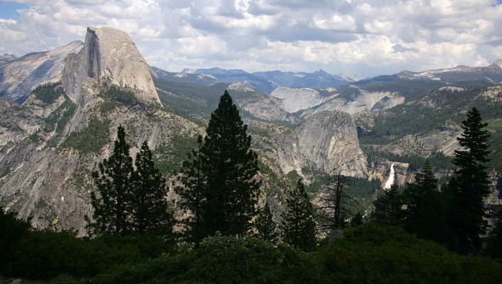 California national park yosemite glacier point valleys wallpaper