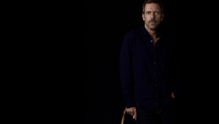 House md hugh laurie actors black background wallpaper