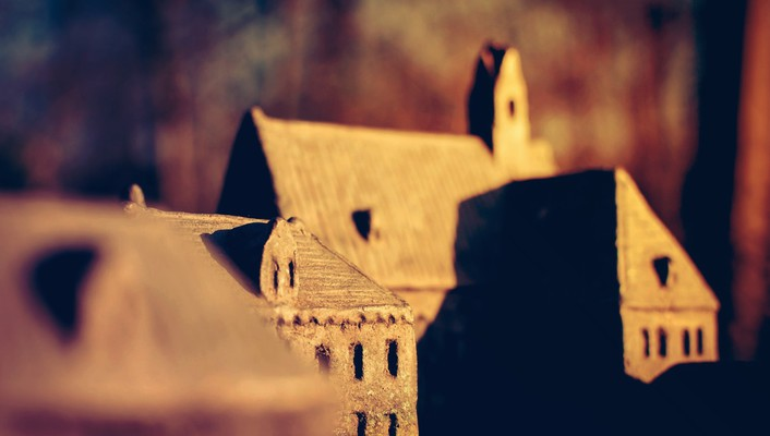 Buildings depth of field wallpaper