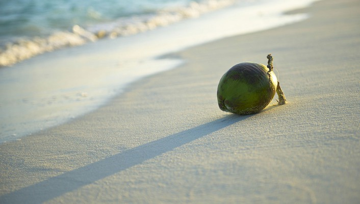 Beach fruits wallpaper