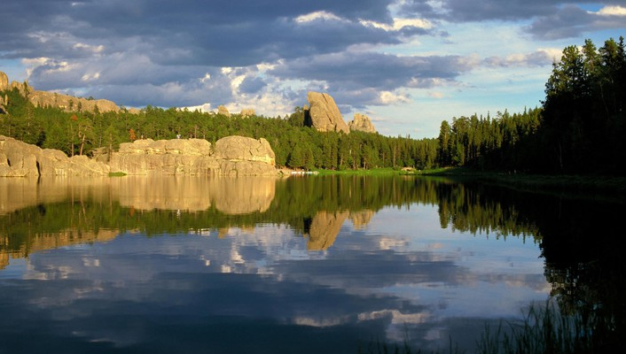 Black hills lakes south dakota wallpaper