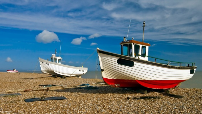 Beaches boats clouds flowers pebbles wallpaper