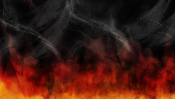 Red fire smoke hell wallpaper