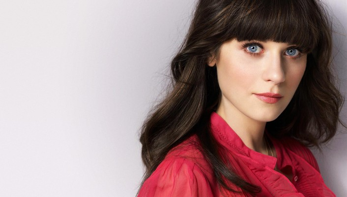 Brunettes blue eyes actress zooey deschanel wallpaper