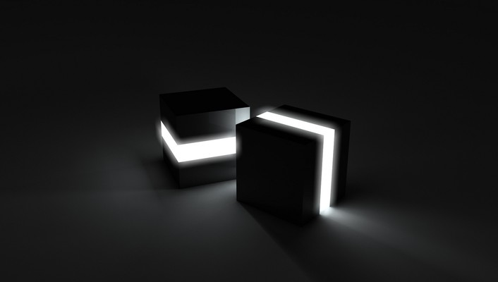 3d view cubes lights wallpaper