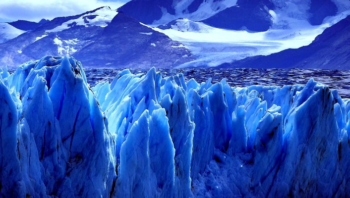 Argentina ice mountains travel wallpaper