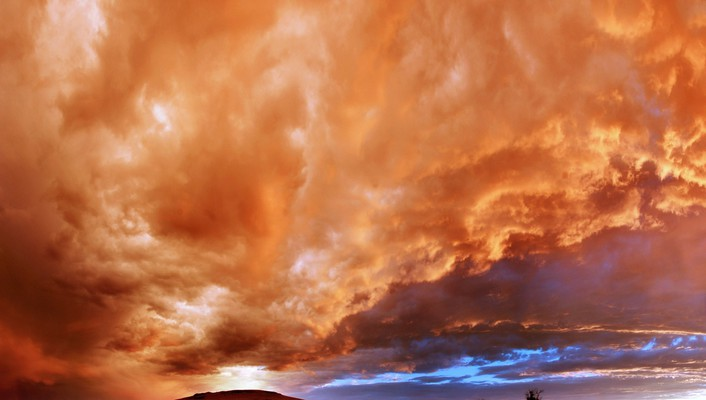 Amazing fiery sky wallpaper