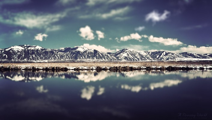 Mountains landscapes nature world dreamy reflections wallpaper