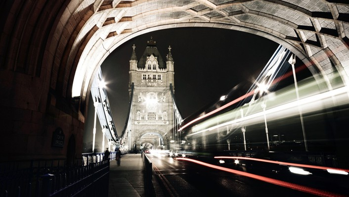 Tower bridge city night wallpaper