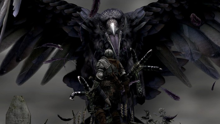 Dark giant fantasy art grab digital souls raven wallpaper