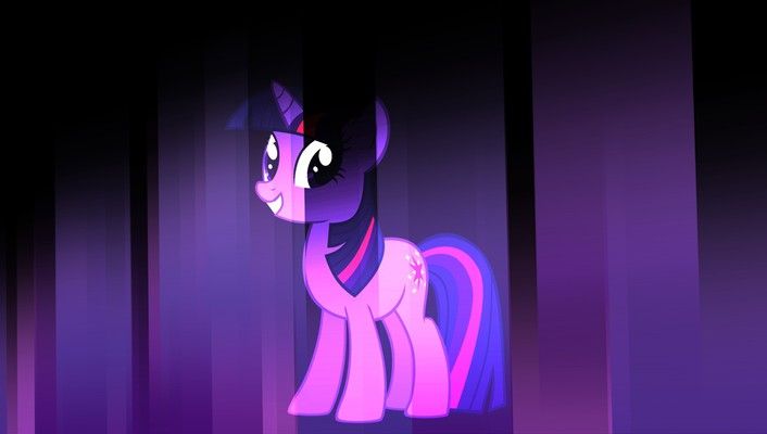 My little pony twilight sparkle pink violet wallpaper