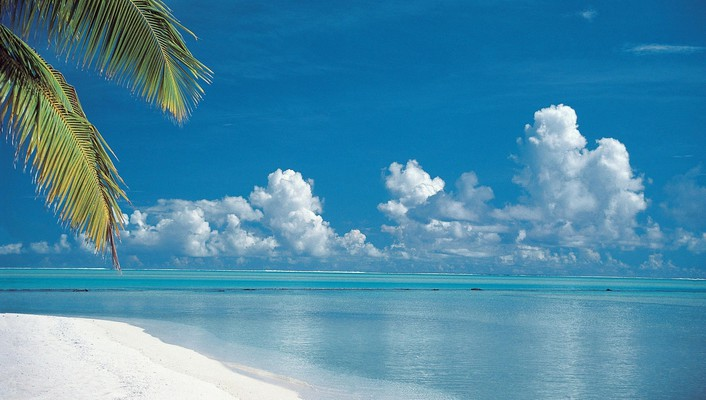 Cook islands beaches tropical wallpaper
